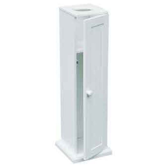 View White toilet paper cabinet