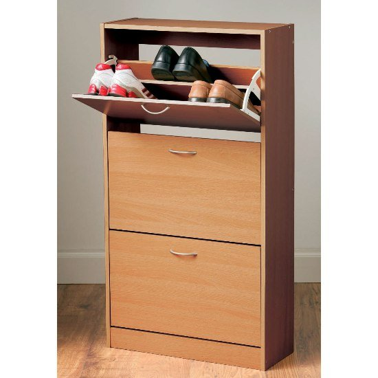 View Envy shoe cabinet in oak with 3 drawer