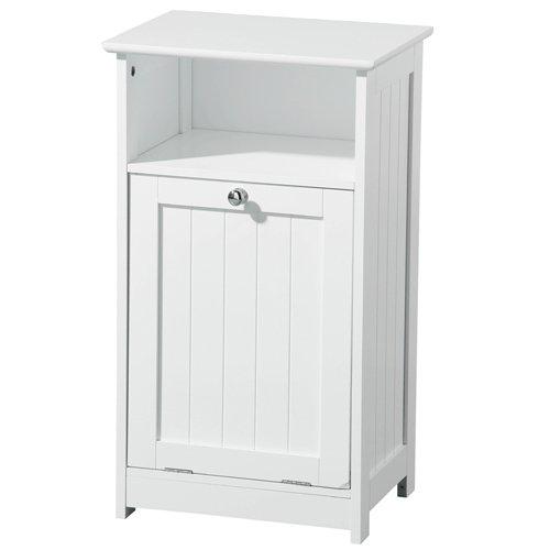 View Floor standing wooden bathroom cabinet in white