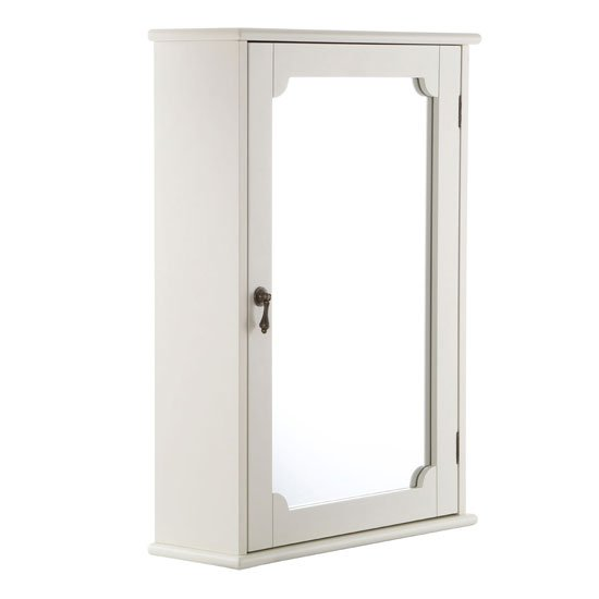 View Ramona bathroom wall cabinet in ivory with 1 mirrored door