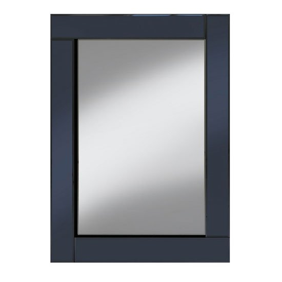 View Bevel 60x80 wall mirror in smoke grey border and clear mirror