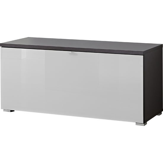 View Alameda shoe bench in anthracite and white glass front