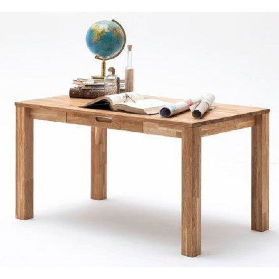 View Cento 2 knotty oak computer desk with 1 drawer
