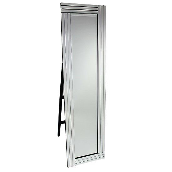 View Cheval triple bar floor standing mirror in silver