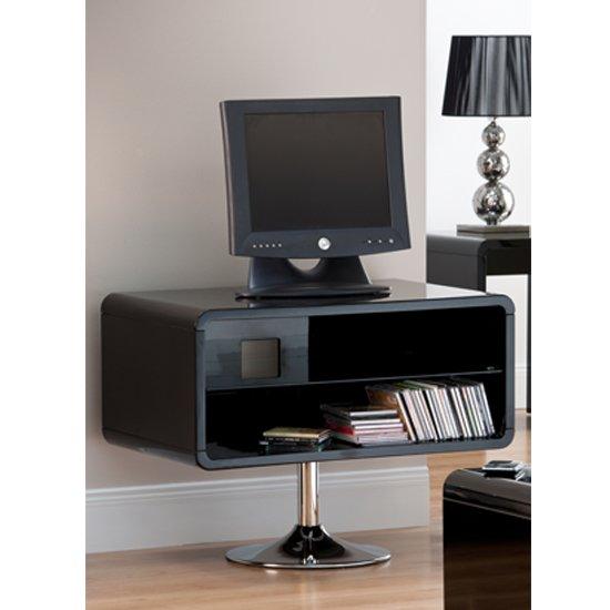 View Toscana black high gloss tv unit