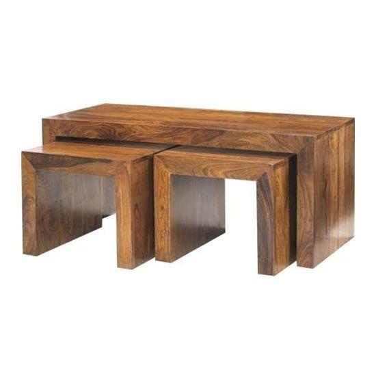 View Cube sheesham john long coffee tables