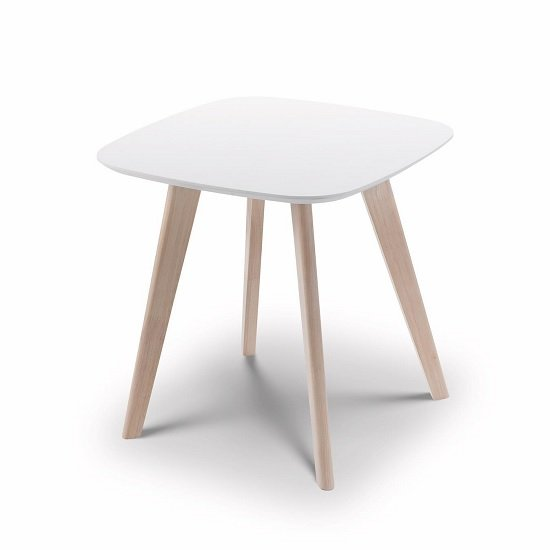 View Bramley lamp table square in white and limed oak