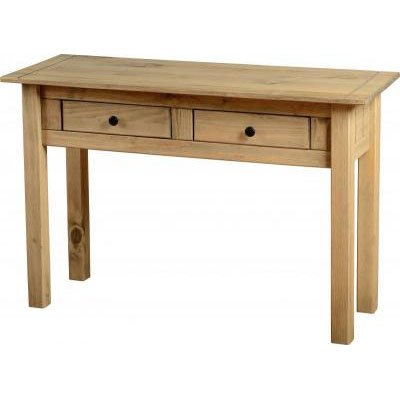 View Amitola 2 drawer console tables in natural oak wax