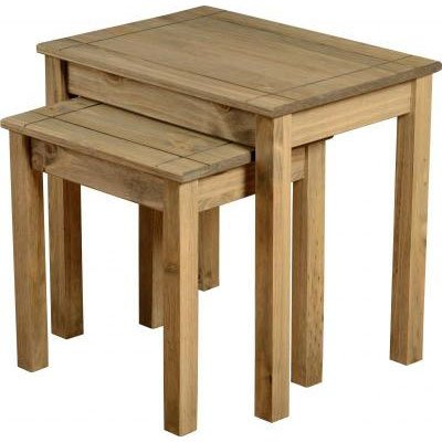 View Amitola nest of 2 tables in natural oak wax