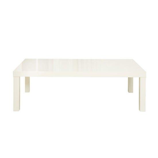 View Curio cream high gloss finish coffee table