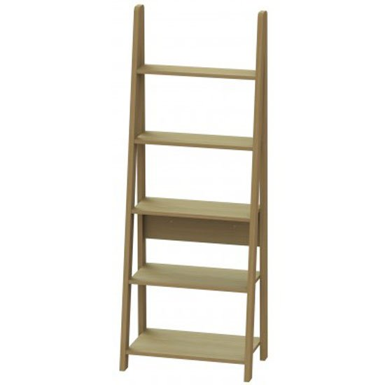 View Paltrow bookcase in oak with ladder style