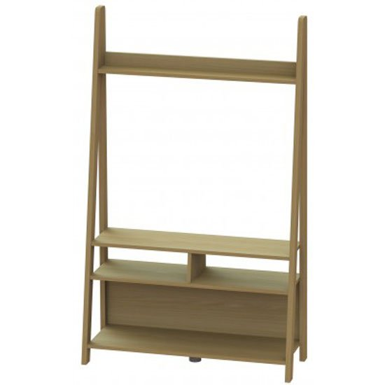 View Paltrow entertainment unit in oak with ladder style