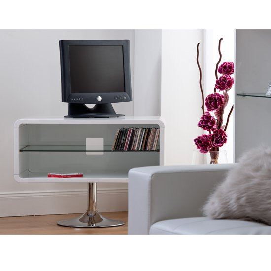 View Toscana high gloss tv unit in white