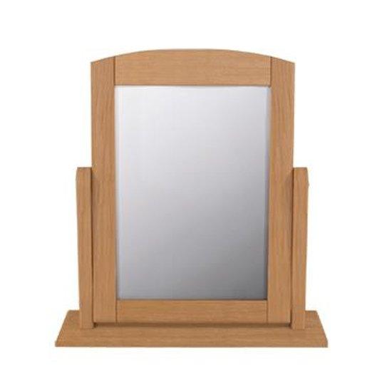 View Aberdeen single dressing mirror with oak frame