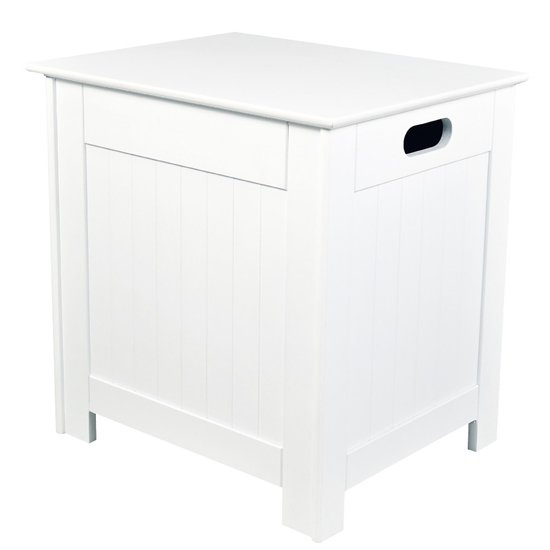 View Adamo wooden laundry cabinet in white