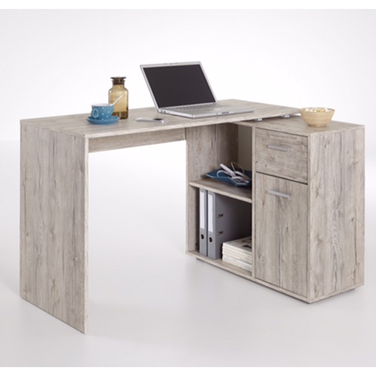 View Albrecht wooden computer desk in sand oak