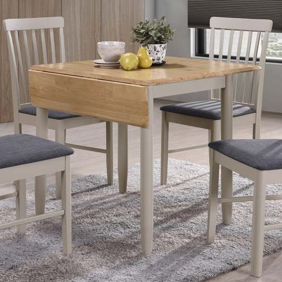 View Alcor square drop leaf dining set with 2 chairs