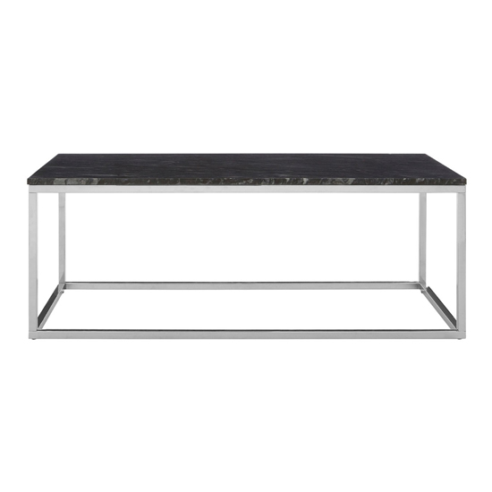 View Alluras rectangular coffee table with black marble top