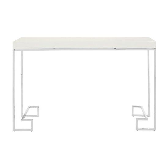 View Alluras rectangular console table in chrome