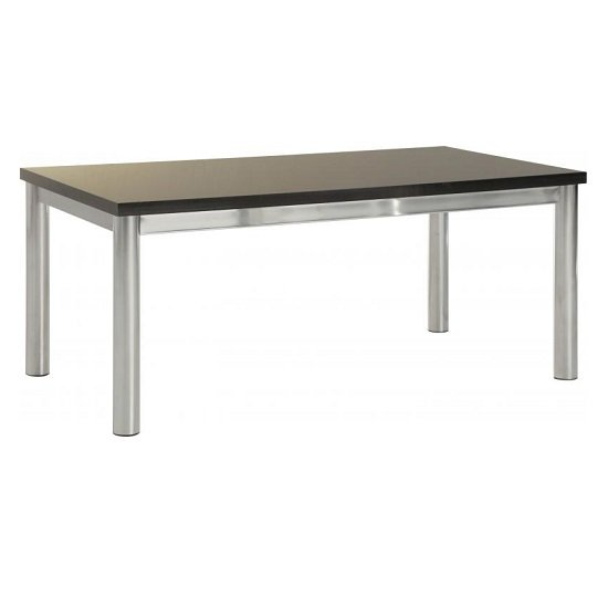 View Andi coffee table in black gloss with chrome legs