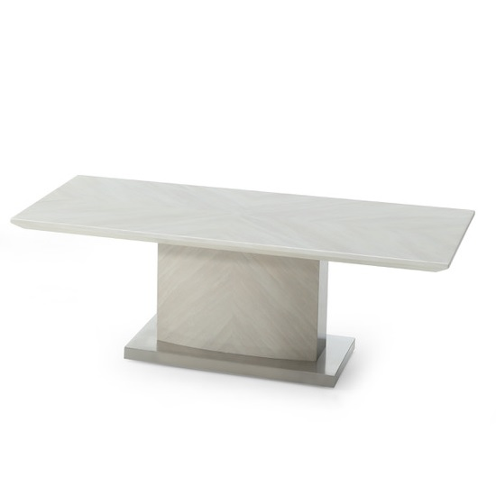 View Apollo marble coffee table in ivory and stainless steel