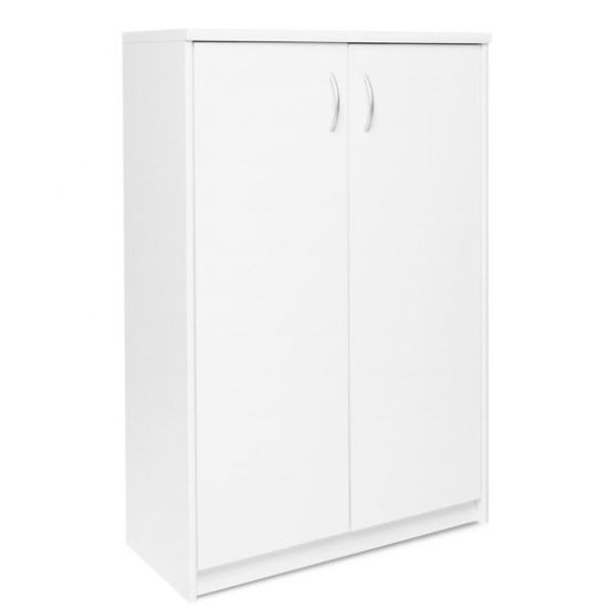 View Aquarius small shoe storage cabinet in white with 2 doors