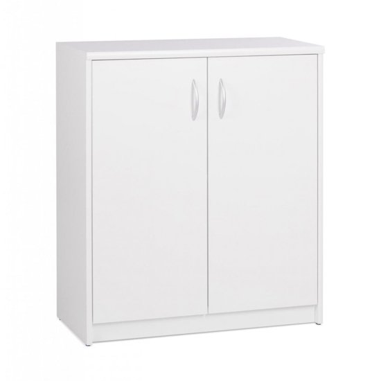 View Aquarius wide storage cabinet in white with 2 doors