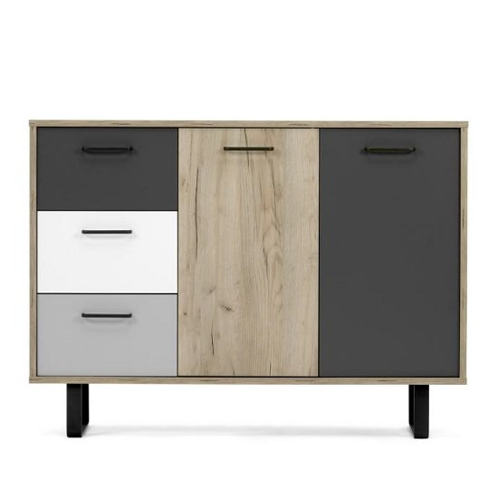 View Aviva wooden sideboard small in multicolor and craft oak