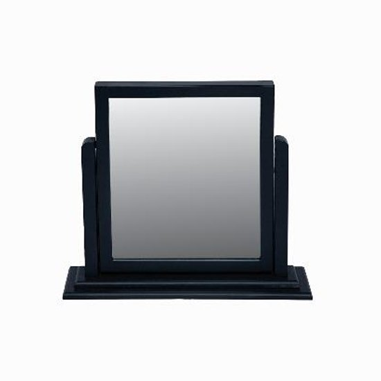 View Ayr dressing mirror with crabon frame
