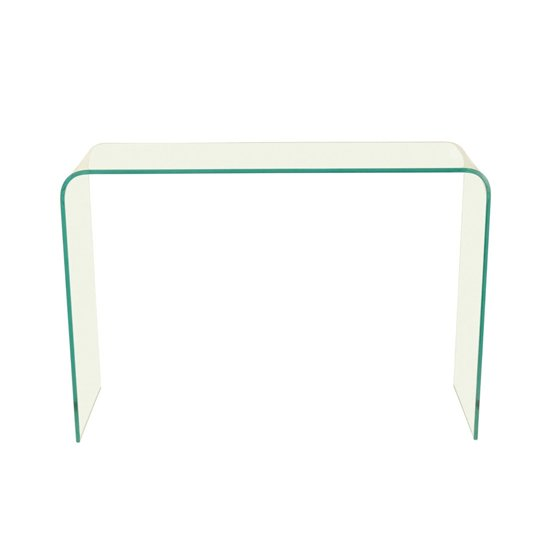 View Azuria clear glass finish console table