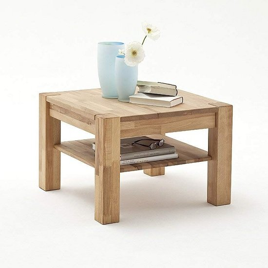 View Balisaro wooden coffee table square in beech heartwood