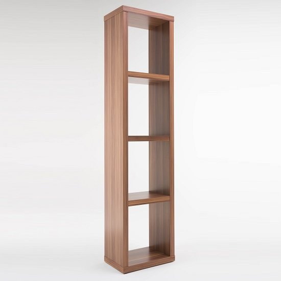 View Bastian wooden bookcase in walnut with 3 shelf