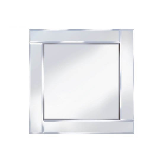 View Bevelled 60x60 square wall mirror
