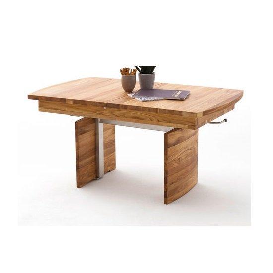 View Bosona extending lift top coffee table in knotty oak