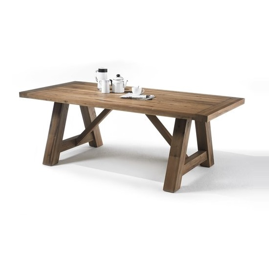 View Bristol dining table in solid bassano oak in 260cm