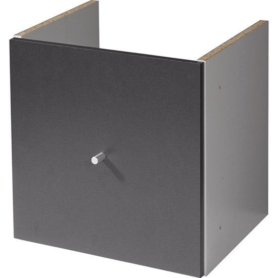 View Linea anthracite cabinet wiith 1 door