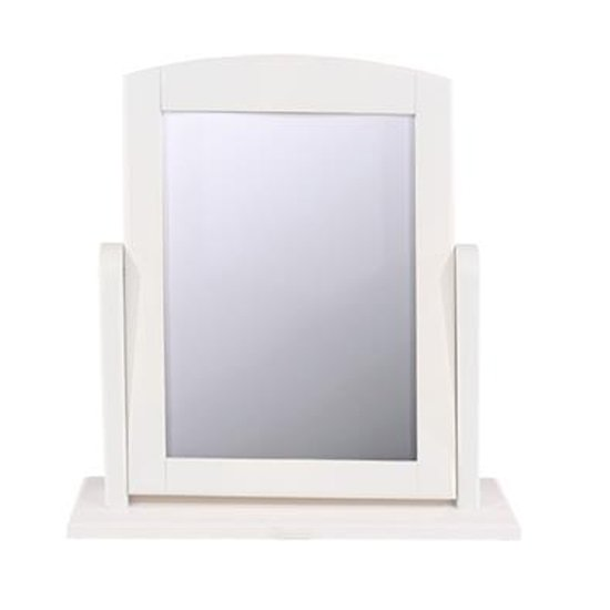 View Caithness single dressing mirror with white frame