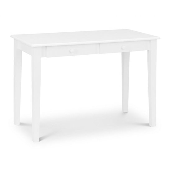 View Carrington study desk in white with 2 drawers