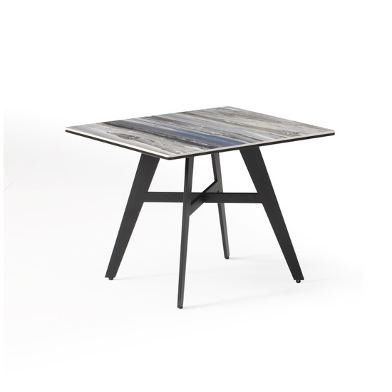 Cebalrai Glass End Table In Blue Mist With Black Metal Legs 344 95 Go Furniture Co Uk