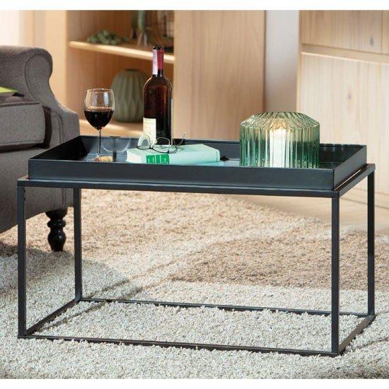 View Club ny metal coffee table in deep black