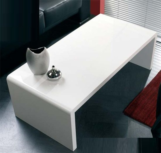View Contemporary coffee table in white high gloss