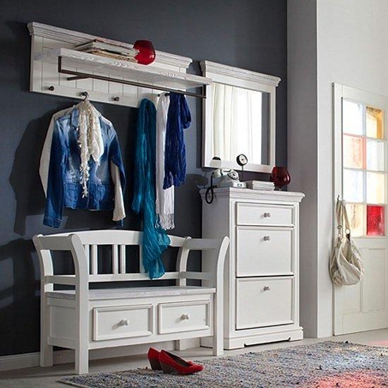 View Corrin wooden hallway furniture set 1 in white