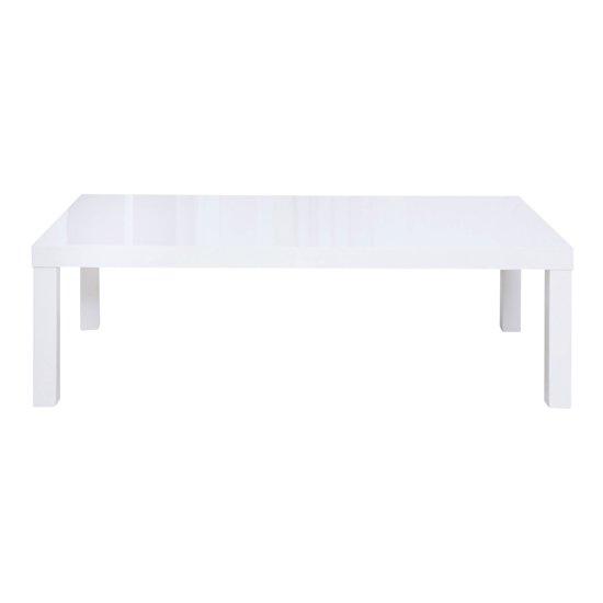 View Curio modern coffee table rectangular in white high gloss