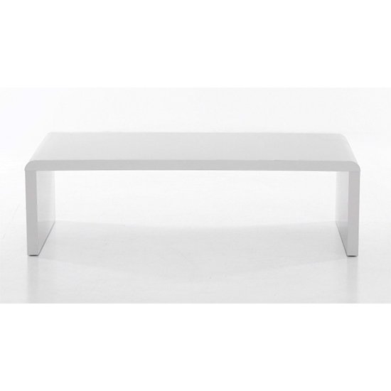 View Cutler wooden coffee table in white high gloss