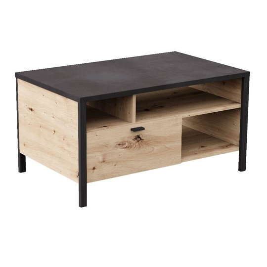 View Cygnus coffee table in artisan oak and matt black