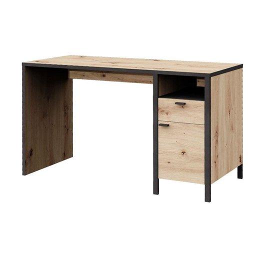 View Cygnus wooden computer desk in artisan oak