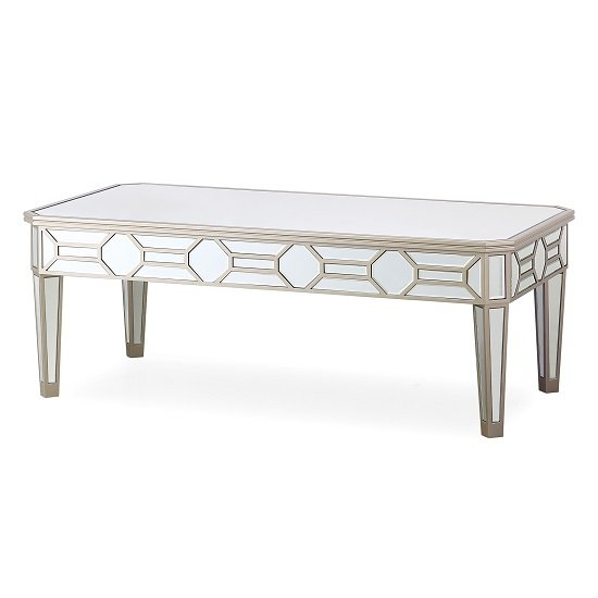 View Dominga mirrored coffee table in silver finish