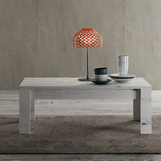 View Ellie wooden coffee table rectangular in white oak