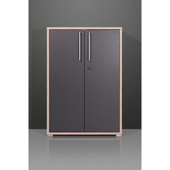 View Duo lockable anthracite filing cabinet