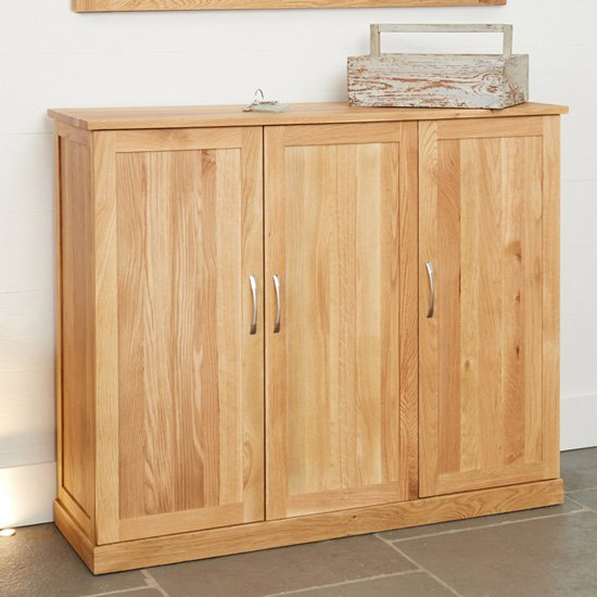 View Fornatic extra large wooden shoe storage cabinet in mobel oak